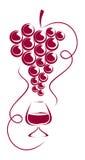 winogrona szklany wino Zdjęcie Royalty Free