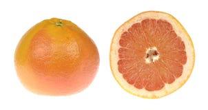 winogrona Tropikalna cytrus owoc i round plasterek odizolowywający na białym tle Zdjęcie Royalty Free