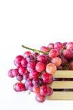 Winogrona w drewnianych skrzynkach Zdjęcia Stock