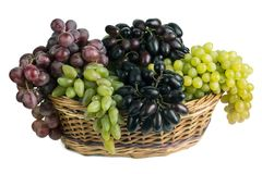 Winogrona w koszu Fotografia Stock