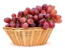Winogrona w koszu Zdjęcie Royalty Free