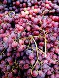 Winogrona w rynku Fotografia Stock