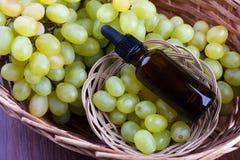 Winogrono istotny olej Zdjęcie Stock