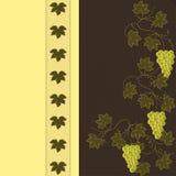 Winogrono na Brown z koloru żółtego wzorem Obraz Stock