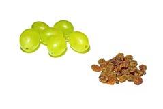 winogrono odizolowywający nad stosów rodzynkami biały Obrazy Stock