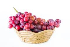 Winogrono w owocowej tacy Fotografia Royalty Free