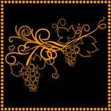 Winogrono w ramie Zdjęcie Royalty Free