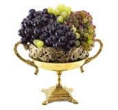 Winogrono w wazie odizolowywającej Obrazy Royalty Free