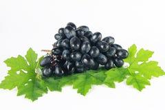 Winogrono z liść Zdjęcia Stock