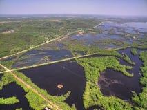 Winona é uma comunidade em Minnesota do sul no rio Mississípi fotos de stock royalty free