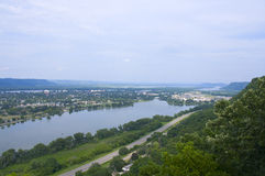 Winona and Lake from Atop Bluffs Royalty Free Stock Photos