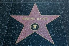 Winona Ryder Hollywood Star lizenzfreie stockfotografie