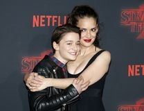 Winona Ryder and Noah Schnapp Royalty Free Stock Images