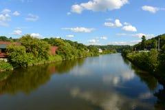 Winooski flod, Montpelier, Vermont Royaltyfri Foto