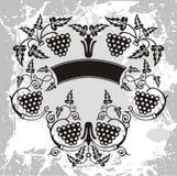 Winorośl artystyczny projekt royalty ilustracja