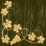 winorośl złota ilustracja wektor