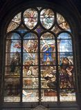 Winowpane from gothic church in Paris Stock Photography