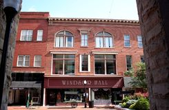 Windsor Hall in Historic Downtown Cumberland, Maryland royalty free stock photography