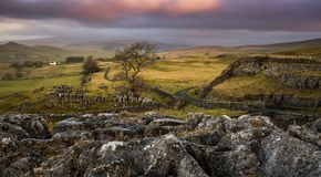 Winskill stones in Yorkshire Dales Stock Images