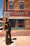 Winslow Arizona. WINSLOW, AZ/USA - June 13: Standin' On The Corner Park, pays homage to Take It Easy, a song written by Jackson Browne and popularized by the Stock Photos