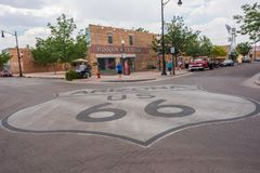 Winslow, Arizona. June 22, 2017:  gained prominence from the Eagle`s song, `Take it Easy,` which includes lyrics about standing on the corner in Winslow, AZ Stock Image