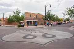Winslow, Arizona. Winslow, Arizona: June 22, 2017: Winslow, Arizona gained prominence from the Eagle`s song, `Take it Easy,` which includes lyrics about Royalty Free Stock Image