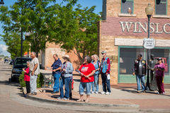 "Winslow, Arizona/USA†""19 Mei, 2016: Looppas voor de Muur Stock Foto's"