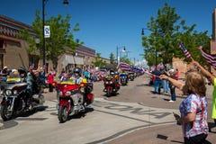 """Winslow, Arizona/USA†""""19 Mei, 2016: Looppas voor de Muur Stock Afbeeldingen"""