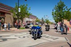 """Winslow, Arizona/USA†""""19 Mei, 2016: Looppas voor de Muur Royalty-vrije Stock Afbeelding"""