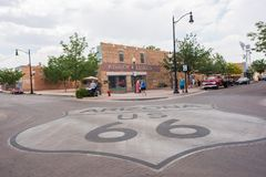 Winslow, Arizona. Winslow, Arizona: June 22, 2017: Winslow, Arizona gained prominence from the Eagle`s song, `Take it Easy,` which includes lyrics about Royalty Free Stock Images