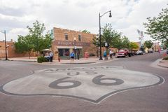 Winslow, Arizona. Winslow, Arizona: June 22, 2017: Winslow, Arizona gained prominence from the Eagle`s song, `Take it Easy,` which includes lyrics about Stock Photography