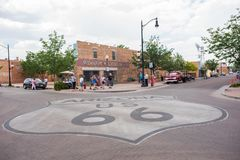 Winslow, Arizona. Winslow, Arizona: June 22, 2017: Winslow, Arizona gained prominence from the Eagle`s song, `Take it Easy,` which includes lyrics about Royalty Free Stock Photo