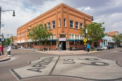Winslow, Arizona. Winslow, Arizona: June 22, 2017: Winslow, Arizona gained prominence from the Eagle`s song, `Take it Easy,` which includes lyrics about Stock Photos