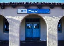 Winslow-Bahnstation Lizenzfreie Stockfotos