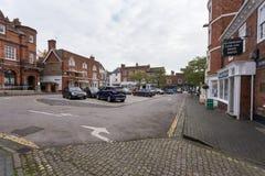 Winslow, Buckinghamshire, Ηνωμένο Βασίλειο, στις 25 Οκτωβρίου 2016: Σημάδι στοκ εικόνα με δικαίωμα ελεύθερης χρήσης