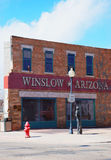 winslow för arizona hörnstandin Fotografering för Bildbyråer