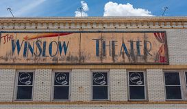 Winslow Theater imagens de stock royalty free