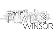 Winsor Pilates Can Be Very efficace pour le nuage de Word de perte de poids Photo libre de droits