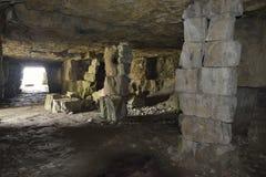 Winspit Quarry Caves Stock Photos