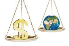 Winst tegenover milieu Royalty-vrije Stock Afbeeldingen