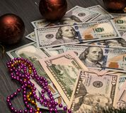 Winst in zaken Nieuwjaar` s Inkomens stock foto