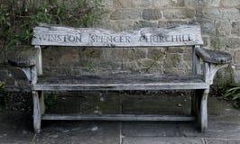 Winston Churchill bench Royalty Free Stock Photos
