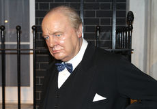 Winston Churchill at Madame Tussaud's. Winston Churchill wax statue at the famous Madame Tussaud's museum in London Royalty Free Stock Photos