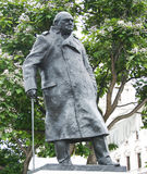 Winston Churchill Statue Stock Foto's