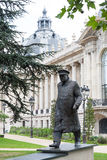 Winston Churchill statue in Paris. With buildings behind Stock Image