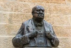 Winston Churchill statue in Prague, Czech Republic Stock Photo