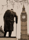 Winston Churchill Statue Westminster London Stock Photography