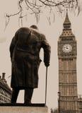 Winston Churchill Statue Westminster London stock photography