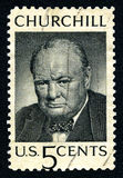 Winston Churchill USA portostämpel Royaltyfri Fotografi