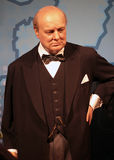 Winston Churchill. Wax statue at Madame Tussauds in London royalty free stock photography